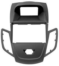 Maska nova Ford Fiesta (2-DIN, okvir); metalik antracitna