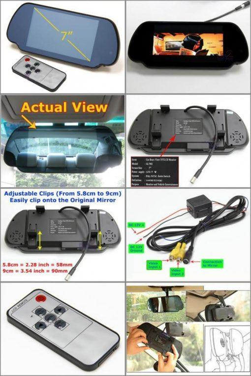 "7"" LCD rearview mirror"