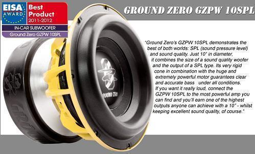 Ground Zero GZPW 10SPL EISA award