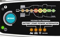 CTEK MXS 5.0 Test&Charge display
