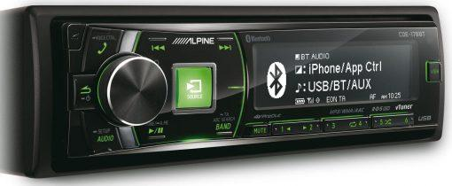 Alpine CDE-178BT green