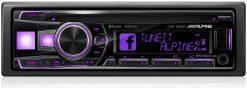 Alpine CDE-185BT purple
