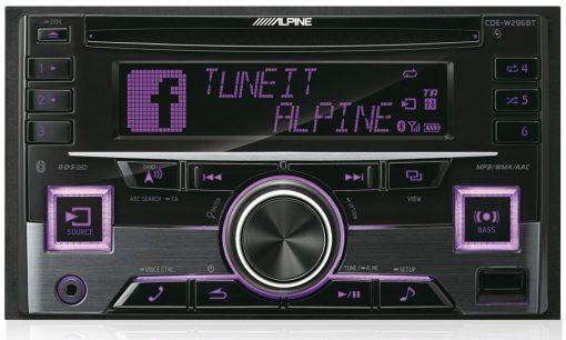Alpine CDE-W296BT violet