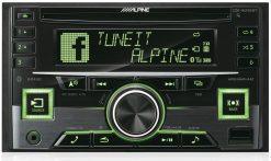 Alpine CDE-W296BT green