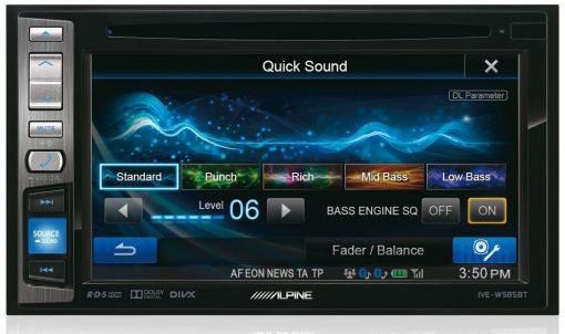 Alpine IVE-W585BT quick sound